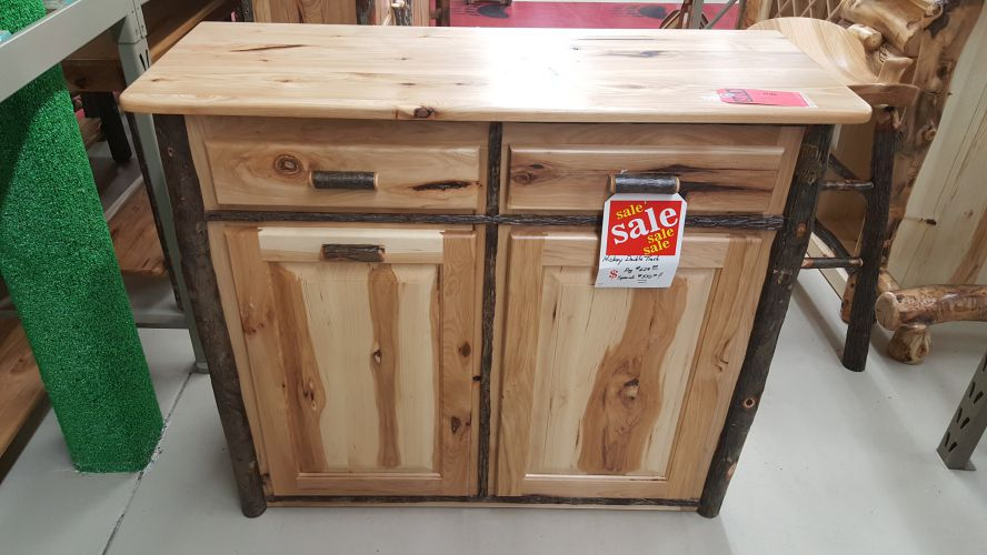 Rustic Hickory Double Trash