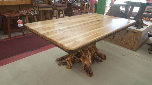 Hickory Dining Table Stump Base Black River Furniture