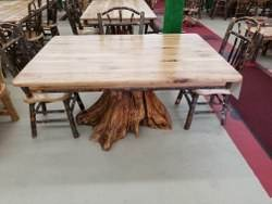 Hickory Stump Dining Table - 42-in x 60-in