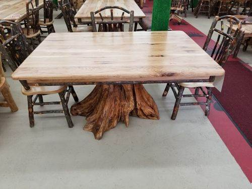 Hickory Stump Dining Table (42\