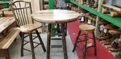 Hickory Pub Table 42-in Round Tower Base - 42-in H