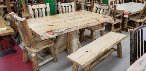 42-in x 60-in Pine Stump Dining Table