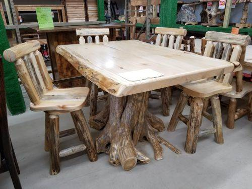 42-in x 60-in Pine Counter Height Dining Table