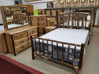 Stick Hickory Queen Bed
