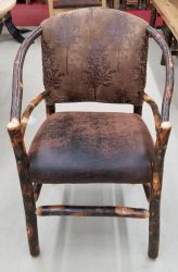 Hickory Dining Chair - Steambent Upholstered Low Arm