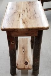 Rustic Hickory Chairside End Table