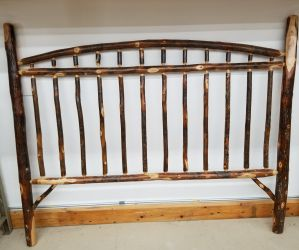 Rustic Hickory King Stick Headboard Only