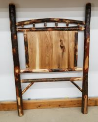 Rustic Hickory Twin Panel Headboard