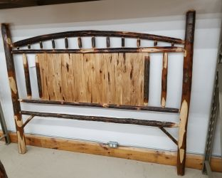 Rustic Hickory King Panel Headboard Only