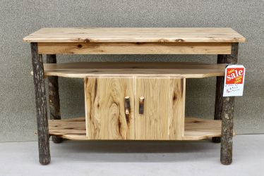 "48"" Rustic Hickory Entertainment Center"