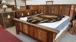Deluxe Oak Reclaimed Barn Wood Queen Size Bed